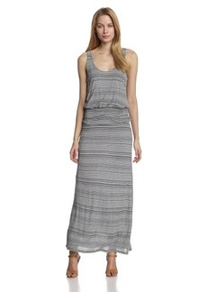 Joie Women's Wilcox Jersey Variegated-Pinstripe Maxi Dress