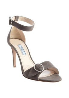 Prada grey suede buckle detail sandals