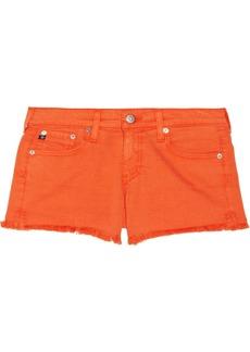AG Jeans Mary Jane cut-off stretch-denim shorts