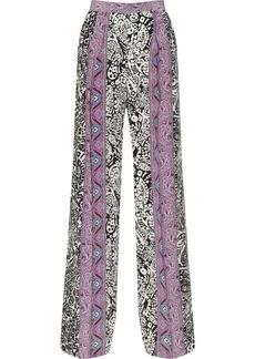 Etro Paisley-print silk wide-leg pants
