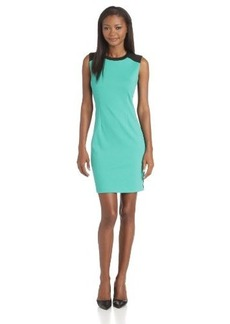 Calvin Klein Women's Front/Back Color-Blocked Dress