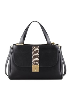 Marc Jacobs Checkers Ayers-Panel Shopping Tote, Black