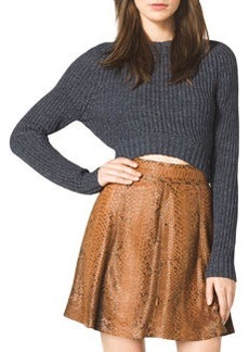Michael Kors Cropped Knit Sweater