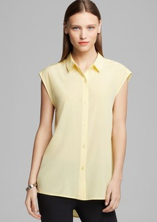 DKNY Drop Shoulder Button Down Tunic