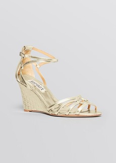 Badgley Mischka Open Toe Wedge Sandals - Hedy