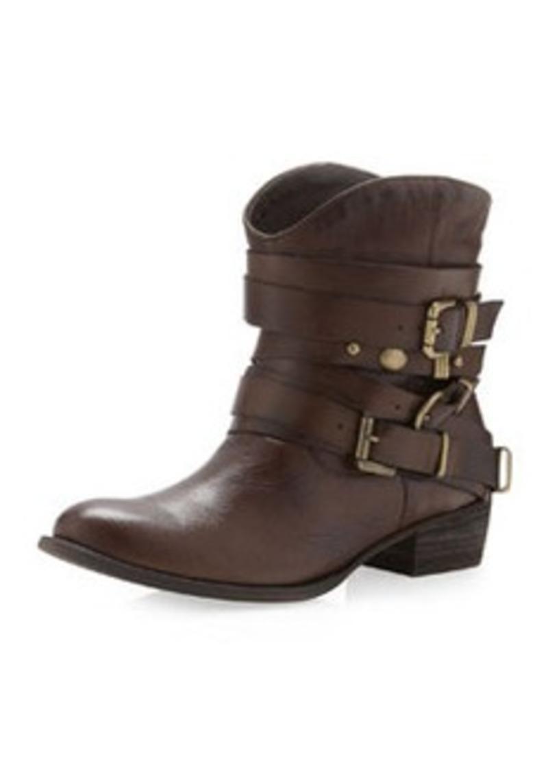 schutz schutz astrid multi buckle ankle boot brown