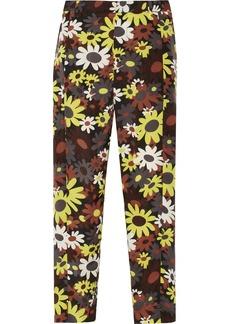 Marni Floral-print crepe wide-leg pants