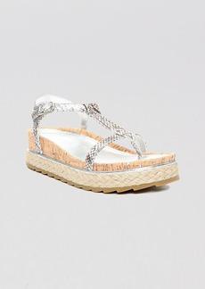 Donald J Pliner Platform Thong Sandals - Cleo