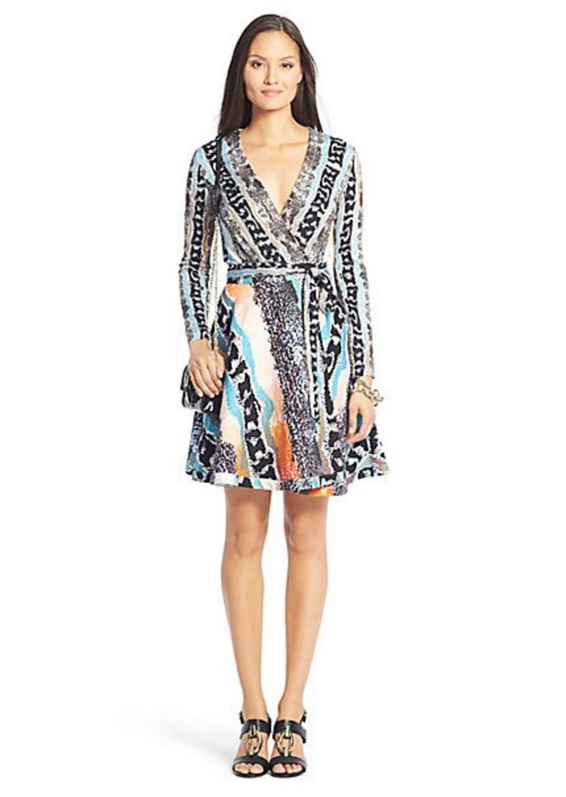 DVF Amelia Cotton Flared Wrap Dress