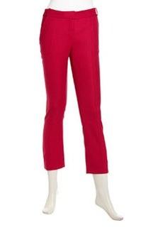 Diane von Furstenberg Crisa Cropped Pants, Scarlet
