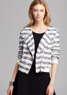 Sanctuary Striped Zip Front Jacket