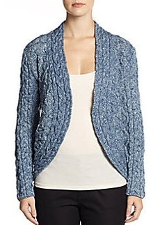 Lafayette 148 New York Cable-Knit Wool Cutaway Cardigan