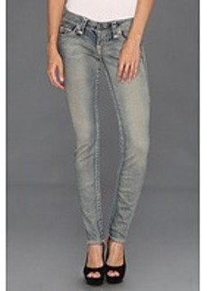 True Religion Stella Grey/Dusty Super T Low-Rise Skinny in Trail Driver