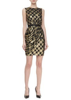Jason Wu Metallic Fil Coupe Sleeveless Draped Dress