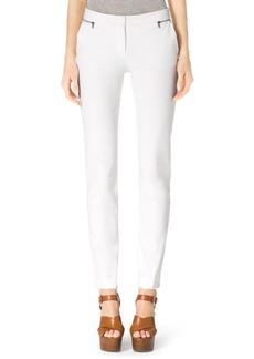 Michael Kors Stretch-Twill Zipper Pants