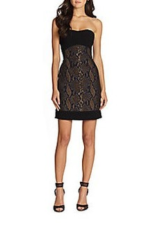 Diane von Furstenberg Garland Two Strapless Snake-Print Dress