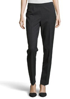 Lafayette 148 New York Contemporary Stretch Slim Pants, Smoke