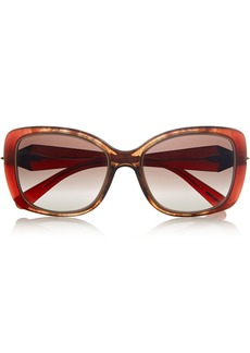 Givenchy Square-frame marbled acetate sunglasses