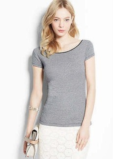 Striped Side-Button Tee