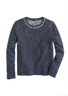 Marled jeweled sweatshirt
