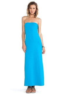 Susana Monaco Helena Strapless Maxi Dress in Turquoise & Sugar