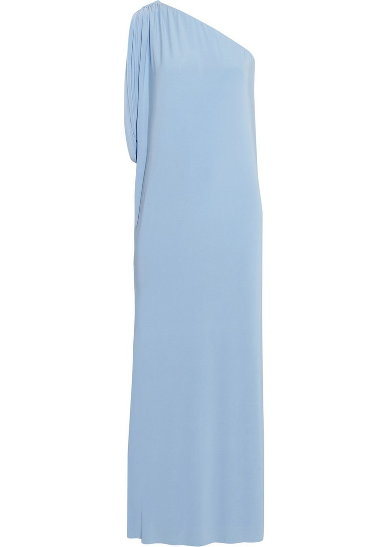 T-Bags One-shoulder stretch-jersey maxi dress