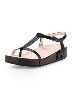 Taryn Rose Amor Patent Thong Sandal, Black