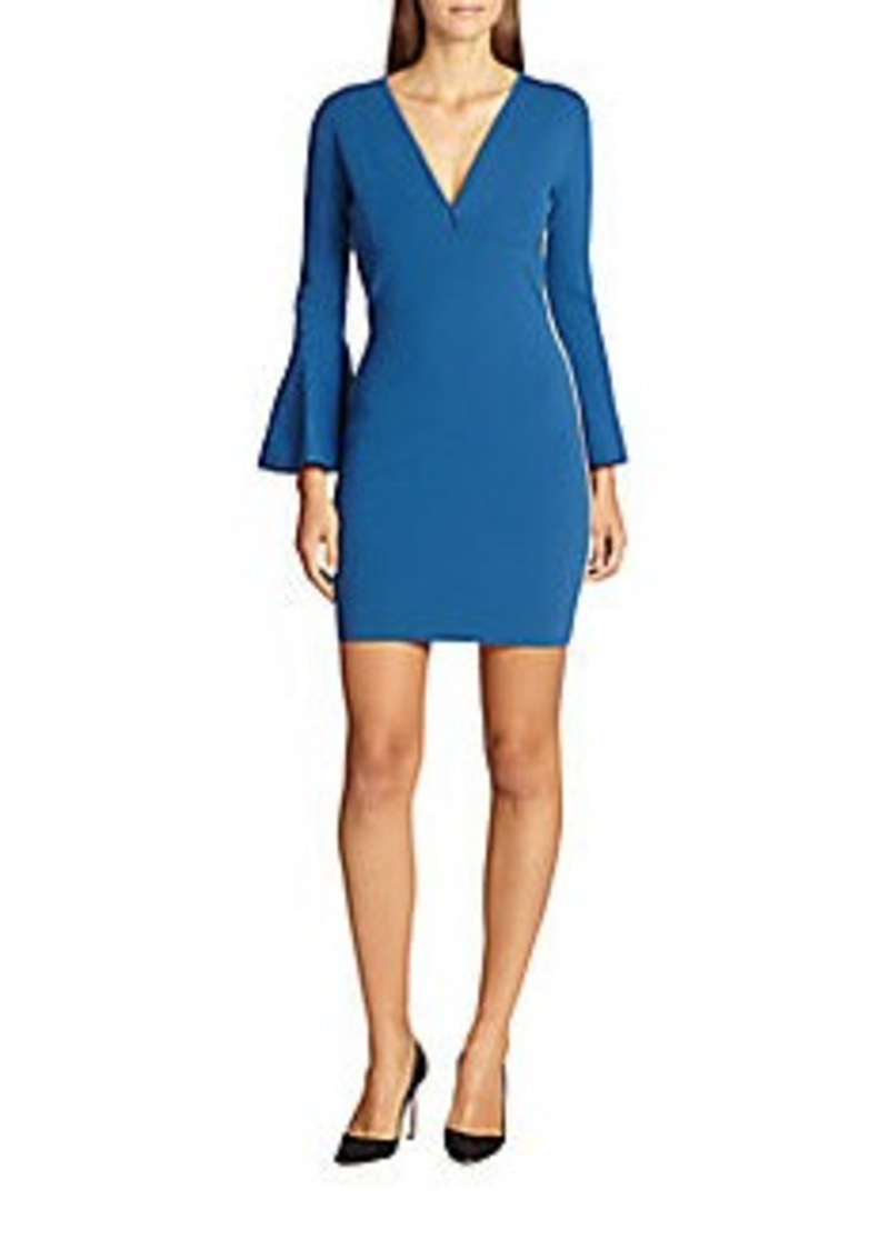 Emilio Pucci Metallic-Trimmed Bell-Sleeved Stretch Knit Dress