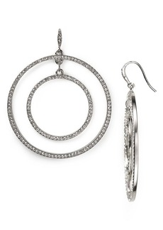 ABS by Allen Schwartz Modern Pave Orbital Earrings
