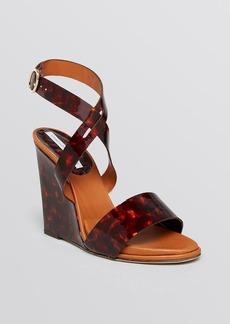 DIANE von FURSTENBERG Open Toe Platform Wedge Sandals - Wilma