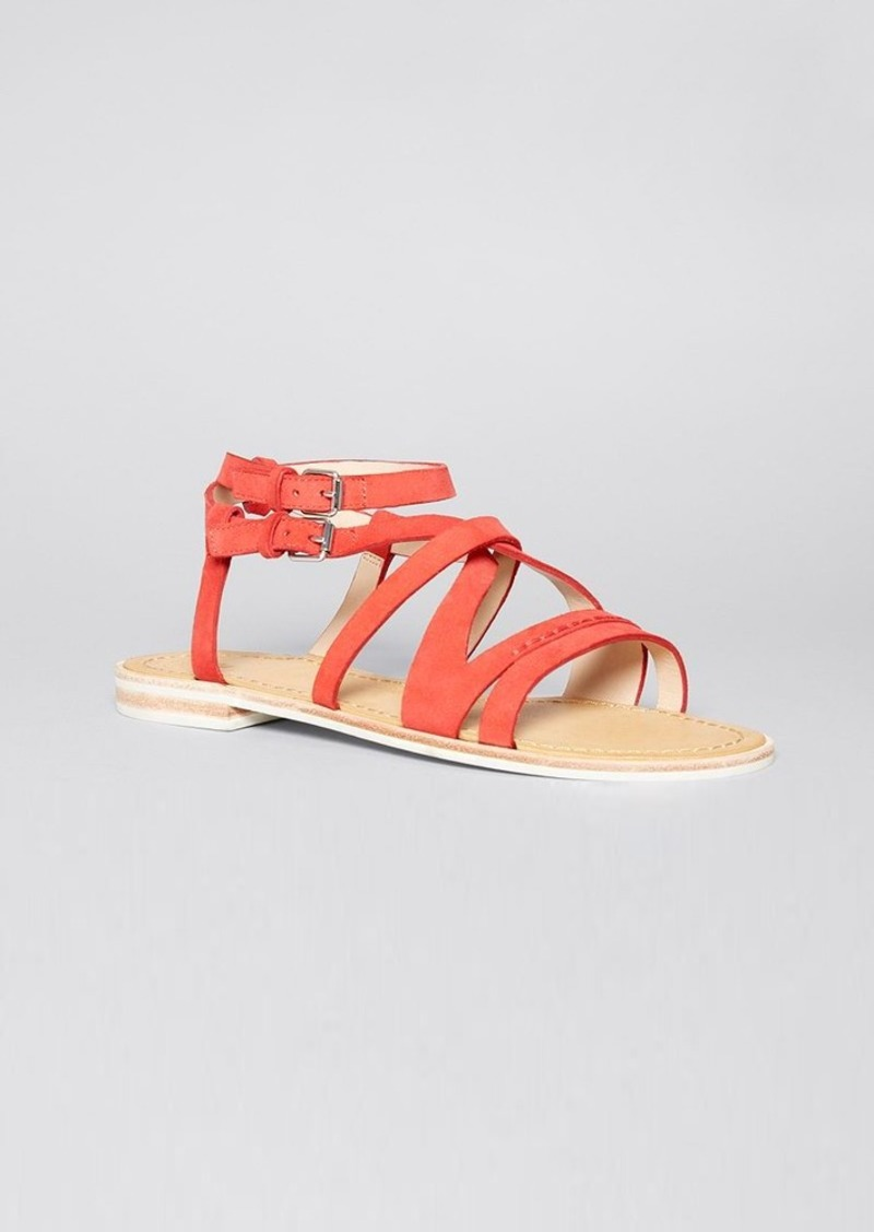 FRENCH CONNECTION Open Toe Flat Sandals - Harper Strappy