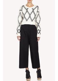 Proenza Schouler Diamond-Pattern Cropped Sweater