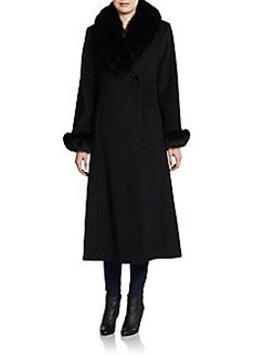 Ellen Tracy Fur-Collar Coat