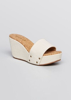 Splendid Slide Platform Wedge Sandals - Greenville