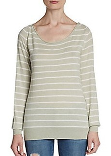 Joie Striped Stretch-Wool Sweater