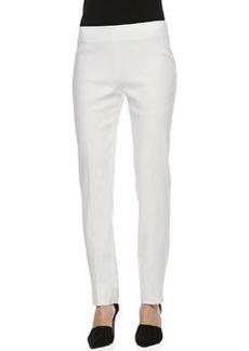 Lafayette 148 New York Stanton Korfu Linen Pants, White