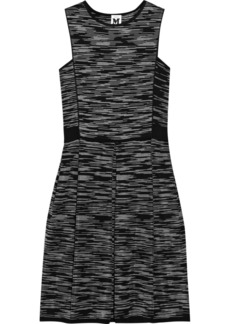 M Missoni Two-tone knitted cotton-blend dress