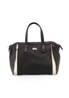 Furla Amazzone Medium Satchel Bag, Onyx/White