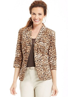 Charter Club Animal-Print Blazer