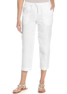 Jones New York Signature Straight-Leg Cropped Drawstring Pants