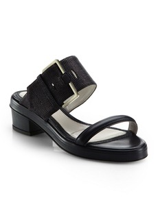 Jason Wu Stingray-Embossed Leather Sandals