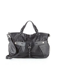 Kooba Desmin Leather Satchel Bag, Black