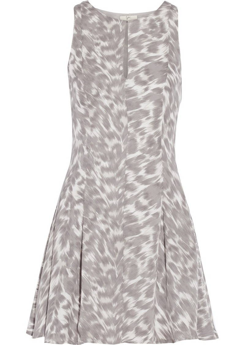 Joie Tavie printed silk mini dress