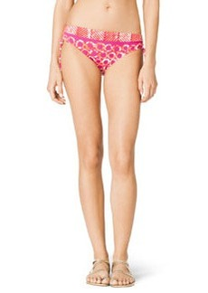 Mixed-Print Side-Ruch Swim Bottom   Mixed-Print Side-Ruch Swim Bottom