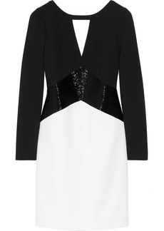 Emilio Pucci Bead-embellished stretch-wool crepe mini dress