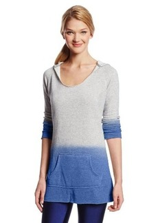 Calvin Klein Performance Women's Dip Dye French Terry Hoodie with Raw Edges