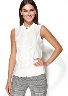Calvin Klein Sleeveless Ruffle-Front Blouse