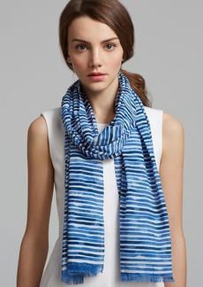 Tory Burch Watercolor Striped Oblong Scarf