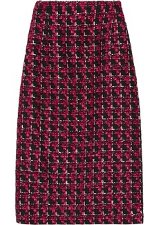 Oscar de la Renta Checked tweed pencil skirt