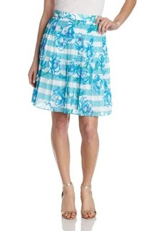 Lilly Pulitzer Women's Virginia Striped Floral Skirt